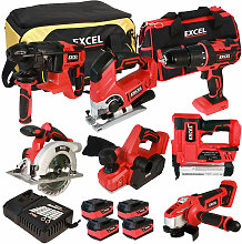 18V Cordless 7 Piece Tool Kit with 4 x 5.0Ah