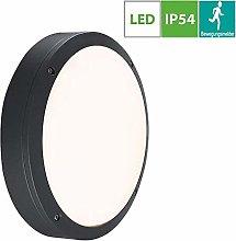 18W LED Outdoor Wall Lights Sensor, Flush Mount