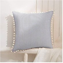 18x18 Inch Pillow Covers Red and White Decorative