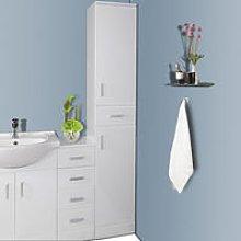 1900mm Gloss White Bathroom Furniture Tall Modern