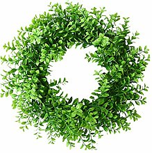 19inch Artificial Green Wreath, Faux Green Leaves