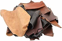 1KG Leather Scraps Various Shades Brown Assorted