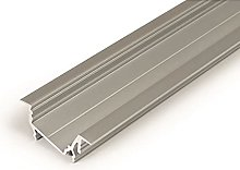 1m / 1000mm recessed T1D LED Profile (Anodized,