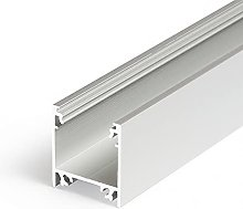 1m / 1000mm TL2 LED Profile (Anodized, Silver),