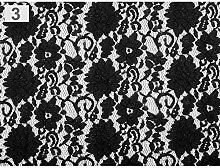 1m 3 Black Lace Fabric, Fabrics