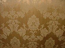 1m Antique Gold Madagascar Designer Curtain