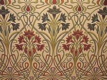 1m Art Nouveau Jewel Thick Designer Jacquard