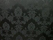 1m Black Madagascar Designer Curtain Brocade