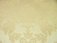 1m Cream Madagascar Designer Curtain Brocade