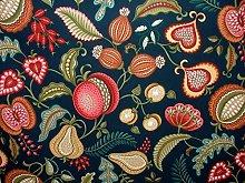 1m Harvest Indigo Arts And Crafts Curtain