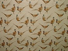 1m Pheasants Vintage Linen Look Animal Print