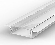1m recessed LED Aluminium Channel, Painted White,