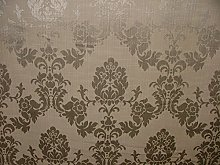 1m Silver Grey Madagascar Designer Curtain Brocade
