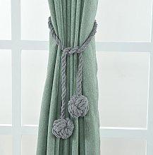 1Pair Curtain Tiebacks Rope Curtain Rope Buckle