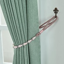 1Pair Curtain Tiebacks Rope Drapery Curtain Rope