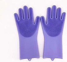 1Pair Silicone Dishwashing Gloves Magic Silicon