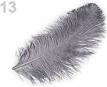 1pc 13 Gray Ostrich Feathers 60cm, and
