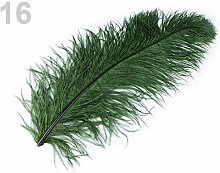 1pc 16 Green Fir Ostrich Feathers 60cm, and