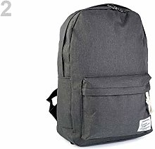 1pc 2 Gray Hematite Waterproof Backpack 29x41cm,