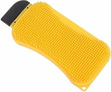 1pc 3 in 1 Silicone Cleaning Brush Sponge Scraper