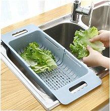 1pc Adjustable Drainer Sink Drain Basket Vegetable