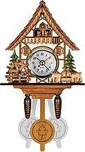 1pc Alarm Clock Cuckoo Clock Wooden Premium Retro