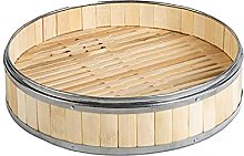1Pc Bamboo Food Steamer with Stainless Steel