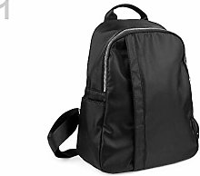 1pc Black Backpack/Rucksack with Pockets, Textile