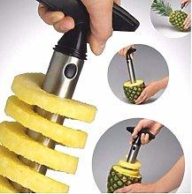 1PC Black Stainless Steel Pineapple Peeler Easy to