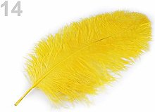 1pc Bright Yellow Ostrich Feathers 60cm, and