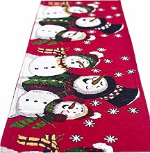 1pc Christmas Table Runner Thicken Washable