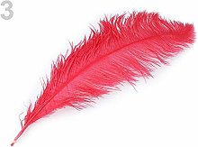 1pc Cinnabar Red Ostrich Feathers 60cm, and