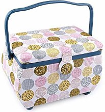 1pc Cream Lightest Upholstery Sewing Basket Cat,