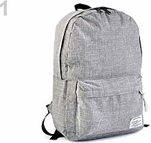 1pc Dove Grey Waterproof Backpack 29x41cm, Textile
