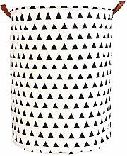 1pc Folding Laundry Basket Round Storage Bin Bag