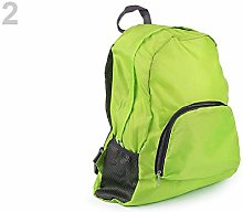 1pc Green Yellow Light Folding Backpack 31x42cm,