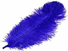 1pc King Blue Ostrich Feathers 60cm, and
