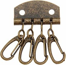 1Pc Metal Leather Craft DIY Pure Brass Key Row