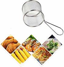 1pc Mini Round Fries Basket Oil Strainer French