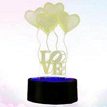 1pc Multicolored LED 3D Illusion Visual Night Lamp