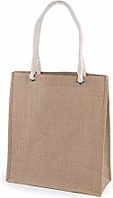 1pc Natural Burlap Jute Tote Bag 35x40cm, Textile