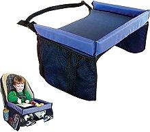 1pc Portable Foldable Kid Car Seat Desk Kid Travel