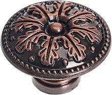 1pc Round Brass/Antique Bronze Furniture Handle