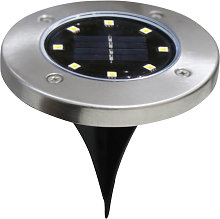 1Pc Solar Lamp with Cool White Light Stainless
