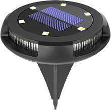 1Pc Solar Lamp with Warm&Blue Light Solar Ground