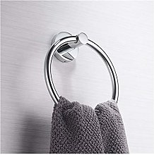 1Pc Stainless Steel Towel Rings Wall-Mounted Round