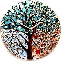 1pc Tree Of Life Wall Clock Tree Easy Wall Clock