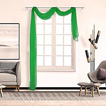 1PC Window Sheer Scarf Voile Curtain Drapes