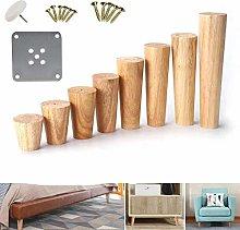 1Pc Wooden Sofa Legs Feet Slanting Straight Coffee