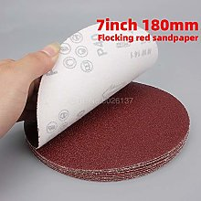 1Pcs 7 Inch 180MM Sandpaper Brushed Back for